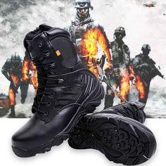 Army Men Commando Combat Desert Outdoor Hiking Boots Landing Tactical Military Shoes Sale - Banggood.com