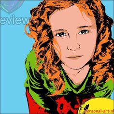 Personal-Art.nl Warhol pop art portret