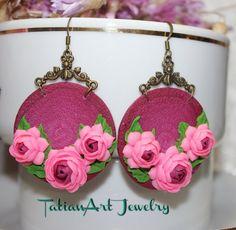 Orecchini ''Camellia'' di TatianArtJewelry su Etsy