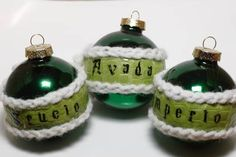 Unforgivable curse ornaments. Like the idea, I may do this a bit different though