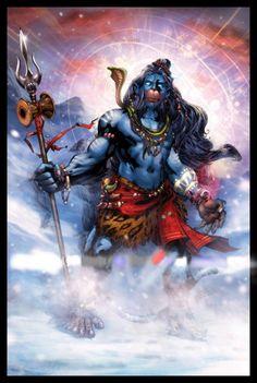 The Avatar - Hanuman Swaroop ! Mahakal Shiva, Lord Krishna, Rudra Shiva, Shiva Statue, Lord Hanuman Wallpapers, Shri Hanuman, Durga, Hanuman Images, Lord Shiva Family