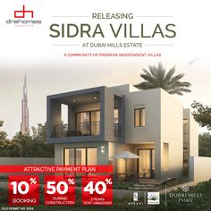 WAIT IS OVER | THE MOST AWAITED LAUNCH OF EMAAR. Releasing SIDRA Villas at Dubai Hills Estate. 3,4 and 5 Bed Independent Villas. Register Now @ bit.ly/SiDRA Villas, Dubai, Real Estate, Construction, How To Plan, Mansions, House Styles, Bed, Home Decor