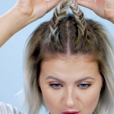 Love this super simple hairstyle : two fishtails with a barrette (full video - link on my bio page)