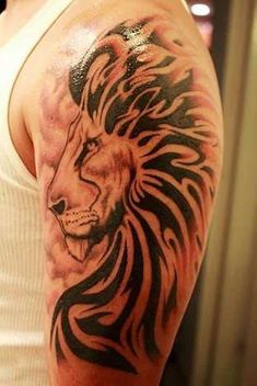 Japanese Tattoos Lion Sleeve Tattoos – tattoos for women half sleeve Cool Half Sleeve Tattoos, Half Sleeve Tattoos Designs, Sleeve Tattoos For Women, Arm Tattoos For Guys, Great Tattoos, Tattoo Designs Men, Mini Tattoos, Leo Tattoos, Tattoos Skull