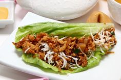 lettuce wrap with asian chicken