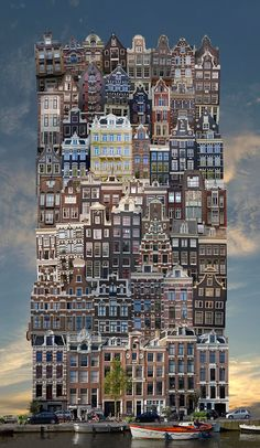 jean-françois rauzier forms architectural babels from stacked urban structures
