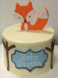 Fox cake for baby shower.