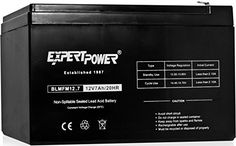 ExpertPower 12V 7 Amp EXP1270 Rechargeable Lead Acid Battery Size: 12 v 7 AH 1 Pack, Model: EXP1270, Electronic Store