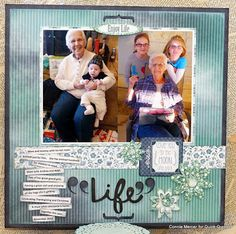 Enjoy Life with Connie. Hi, Connie here with a scrapbook page using Anchors Aweigh and Farmhouse together, along with some of the new PowderPuff Chalk Inks. I love to mix and match the paper collections by Quick Quotes. The papers are designed to work together and they do so well.