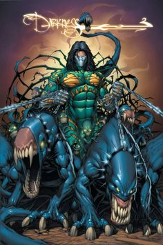 The Darkness by Dale Keown Comic Book Artists, Comic Book Characters, Comic Book Heroes, Comic Character, Comic Books Art, Comic Art, Character Design, Image Comics Characters, Marvel Comics