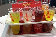 Sampler at World of Coca-Cola on the strip- $7 to try 16 different sodas from around the world