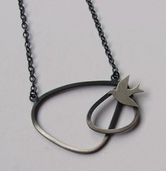 Swallow necklace by Leoma Drew St Ives, Swallow, Jewelry Design, Pendant Necklace, Silver, Swallows, Drop Necklace, Money