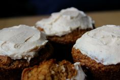 Real Food Cream Cheese Frosting: 8 ounces cream cheese, 1/2 teaspoon vanilla, 1/4 cup local raw honey