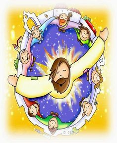 Vicaría Episcopal para Niños Religion Catolica, Prophetic Art, Fun Fair, Catholic School, Kids Church, Bible Stories, Bible Art, Cool Cartoons, Religious Art