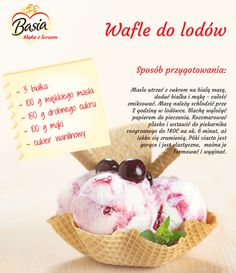 Wafle do lodów. Cap Cake, Happy Foods, Polish Recipes, Menu Planning, Other Recipes, Cooking Tips, Food To Make, Healthy Snacks, Easy Meals