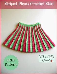 Pleated Mini Skirt - Toddler Size - Free Crochet Pattern Pleated Mini Crochet Skirt with elasticized Skirt Pattern Free, Crochet Skirt Pattern, Crochet Skirts, Crochet Patterns, Free Pattern, Tutorial Crochet, Skirt Patterns, Skirt Tutorial, Crochet Tutorials