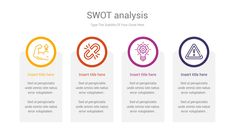 SWOT analysis is an impressive chart template to identify strengths, weaknesses, opportunities, and threats related to business competition or project planning concepts through shape diagrams. 49 Unique slides designed by professionals that you can easily edit and fill out with your personal content, All objects are vectors objects, and they are fully editable, all icons used are smart object and vector Swot Analysis, Slide Design, All Icon, Powerpoint Presentation Templates, Vectors, Competition, Illustrator, Infographic, Fill