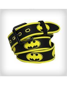 Batman Logo Rubber Embossed Belt