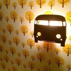 ferm LIVING Kids Dotty Wallpaper: http://www.fermliving.com/webshop/shop/all-products/dotty-wallpaper.aspx ferm LIVING Kids Car lamp in smoked oak: http://www.fermliving.com/webshop/shop/kids-room/car-lamp-smoked-oak.aspx