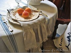 Wisteria Knock-Off Linen Hand Towels....Love the rustic French look