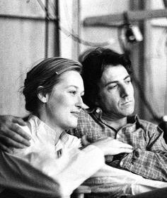 Meryl Streep and Dustin Hoffman on the set of Kramer vs Kramer, 1979