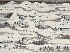 Winter at Cenade Artist: Viorel Marginean Completion Date: 1992 Style: Expressionism, Naïve Art (Primitivism) Genre: landscape