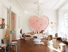 Art's at the heart of this contemporary Cologne apartment with Damien Hirst's Butterfly Colour Painting