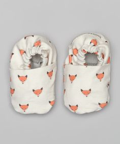 Look at this Bootie Patootie White Fox Booties on #zulily today!