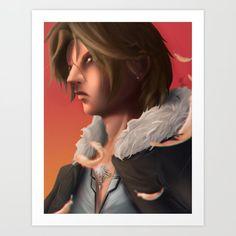 Squall Leonhart - Final Fantasy 8 Art Print by - X-Small Buy Posters, Buy Prints, Buy Frames, Final Fantasy, Printing Process, Gallery Wall, Unique Art, Waiting, Walls