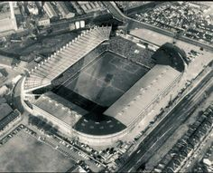 Aerial view Old Trafford, back in 1966