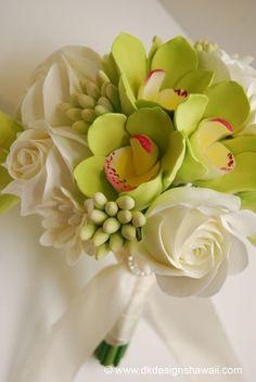 Green Cymbidium Orchid - simple and elegant