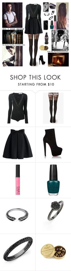 """✖ I wish we were seventeen so I could give you all the innocence that you give to me. No, I wouldn't have done all the things that I've done if I knew one day you'd come. ✖"" by blueknight ❤ liked on Polyvore featuring Givenchy, Chicwish, Christian Louboutin, NARS Cosmetics, OPI, Core Jewels, Kendra Scott, Anne Sisteron and Casetify"