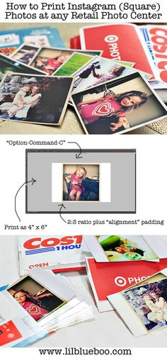 How to print Instagram photos at any retail photo center.