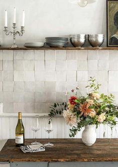 This backsplash trend is actually totally timeless . , This backsplash trend is actually totally timeless . This backsplash trend is actually totally timeless , Handmade Tiles, Handmade Home Decor, Kitchen Tiles, New Kitchen, Kitchen Cabinets, Country Kitchen, Kitchen Countertops, Kitchen Sink, Kitchen Cupboard