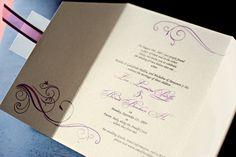 Classic Gatefold Wedding Invitation by Daisy Designs