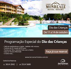 Torneios esportivos com a galera esperam seus filhos no Monreale Hotel Resort!