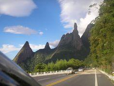 Dedo de Deus -Teresópolis. Serra Fluminense  This was the highway/road we took to and fromm our cottage in Teresopolis.