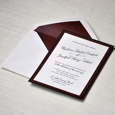 Gorgeous detail on these wedding invitations from Engaging Papers
