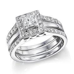 Diamond Engagement Ring And Wedding Band