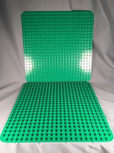 Two DUPLO Lego Green Plate 22x22 Studs (15x15) Inches #4268 #Lego