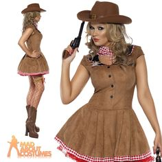 Cowgirl Costume Wild West Fancy Dress Ladies Womens Western Outfit UK 8 - 18 in Clothes, Shoes & Accessories, Fancy Dress & Period Costume, Fancy Dress | eBay
