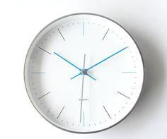 Sin CLOCK ブルー [連続秒針 壁掛け時計 ウォールクロック]|northern line-インテリア雑貨