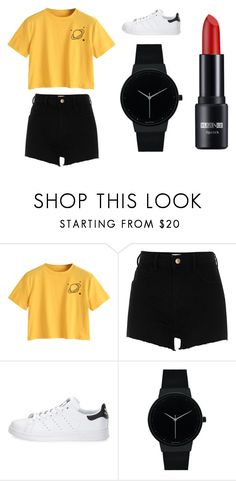 """""""Sans titre #9861"""" by yldr-merve ❤ liked on Polyvore featuring River Island, adidas and Geneva"""