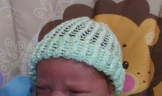 Hand knitted infant hat by crafts123 on Etsy, $4.95