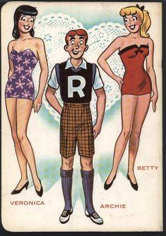 Betty Veronica Archie Paper Dolls