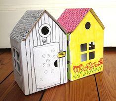 Dekoration Pappspielzeug Recycling, Bird, Outdoor Decor, Home Decor, Cardboard Playhouse, Barbie Home, Shoe Box, Decoration Home, Room Decor
