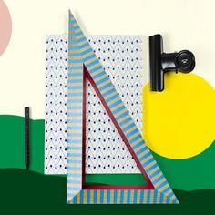 #stationary #papeterie #schreibwaren #papierwaren #notebook #clip #woodentriangle (at sous-bois)