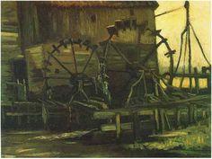 Molino de agua en Gennep  Vincent van Gogh Pinturas, Óleo sobre tela Nuenen: noviembre, 1884 Museo Noordbrabants (en préstamo de la Oficina de Bellas Artes de los Países Bajos) Den Bosch, Los Países Bajos, Europa F: 46, JH: 524