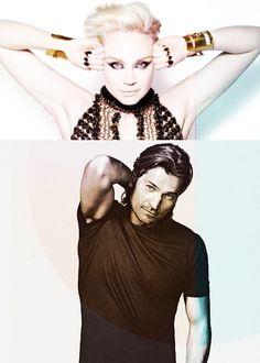 Nikolaj Coster-Waldau as Jaime Lannister and Gwendoline Christie as Brienne of Tarth