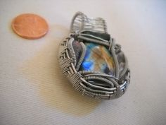 Wire Wrapped labradorite by LostBoysRagz on Etsy, $45.00